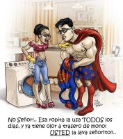 SUPERMAN'S laundry day by otas32