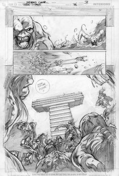 Teen Titans 76 p.3 pencils by Cinar