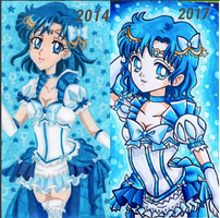 Sailor Mercury Crystal Vs Sailor Mercury Original by Cherryblossomfang