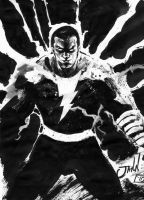 Black Adam ink wash test by jgalino