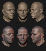 Male Head WIP by MrNinjutsu