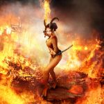 Demoness of Sword of fire no tail by FueledbypartII