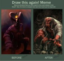 Draw this Again Meme: Hellboy by MattDeMino