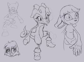 Sonic Sketchdump by charity236