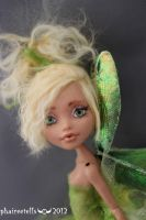 Monster High HOWLEEN fairy repaint PERI portrait by phairee004