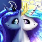 The sun and moon by Coco-flame