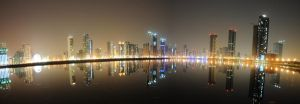 Sharjah: night panorama by kazimkirmani