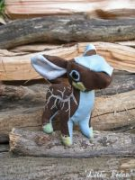 Chibi Quad Plush- Wood Deer by Lithe-Fider
