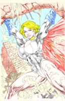 Power girl Strength by GordonAlyx