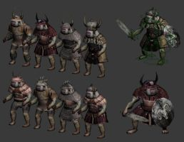 Orc Armor Variations by pickledtezcat