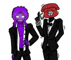 PurpleGuy and PhoneGuy by PurpleMonsterEyJ