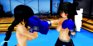 Personal Sparring with Misaki and Jura 02 by KiraYamato74