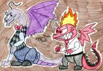Inside Out Dragons- Anger and Fear by FlygonPirate