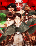 Shingeki No Kyojin -- Attack on Titans by aphin123