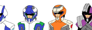 Cosmic Era Pilot Suit Mugshots by G-DaggerX105