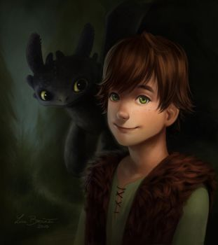 Hiccup and Toothless by Zippora