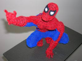 Pipe Cleaner Spidey by fuzzymutt