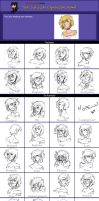 Character Expressions - Kris by pixarjunkie