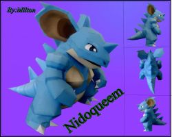 nidoqueem papercraft by milton22x