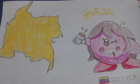 Kirbytalia - Colombia map by Genie92