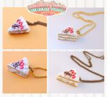 cake necklace polymer clay by ReitaWolf
