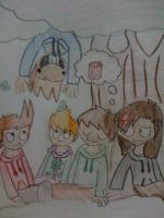 Eddsworld-Gang and I doodle by KylaxieLicious