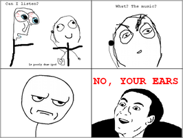 RageComic: Desire to listen to friends ipod.. by Durpy337