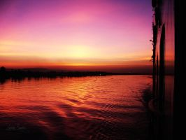 Sunset on the Nile  River by Lethalxr0se