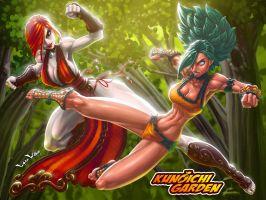Kunoichi Garden Cover by LordWilhelm