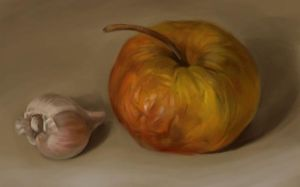 apple with a garlic by anna-lakisova
