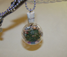 Faery Globe Natural Garden Pendant by mymysticgems
