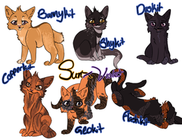 Sunflash and Violetfeather's Hypo kits by collie-rado