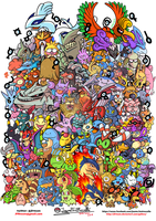 All Johto Pokemon by JFRteam