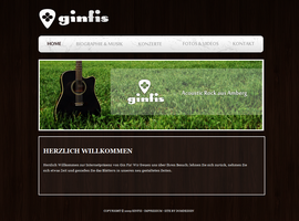 Acoustic Band Homepage by DOMDESIGN