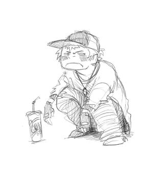 little boy with cola by MisforMadness