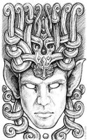 Pen Sketchbook - Horned Man by synnabar