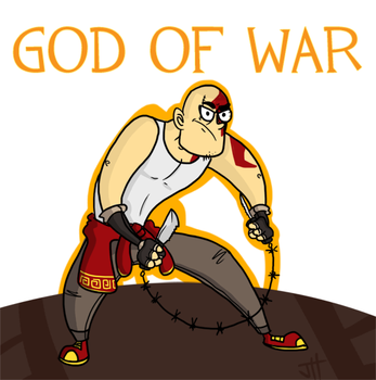 Modern God of War by T3hJake