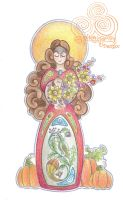 Harvest Goddess by Spiralpathdesigns