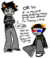 Karkat and Sollux by Authenti