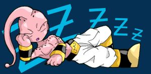 Sleeping Kid Buu by Lord-Bahamut
