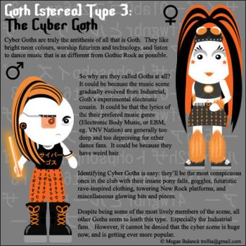 Goth Type 3: The Cyber Goth by Trellia