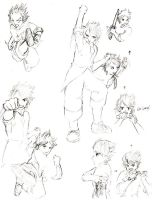 Kyung: Action Poses by KuroiRyu