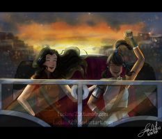 Korra and Asami Sato 06-08-2014 by Luciand29