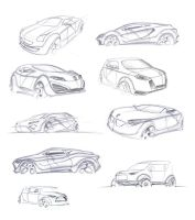 Some carsketches... by greensandsguy