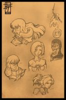 Dragon Age Doodles by 21as