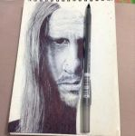 Axe WIP (in biro) by alex-jville