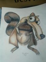 scrat squirrel from ice age by KaraMiaTattoos
