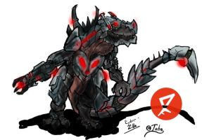 Go G: Cyber Zilla by Vagrant-Verse
