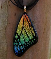 Spectrum Rainbow Glass Wing by FusedElegance