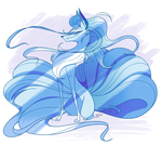 Alola Ninetales - Speed Draw by probablyfakeblonde